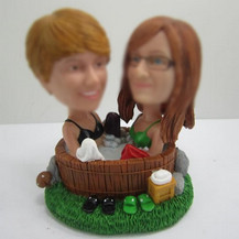Bobbleheads custom best friends Hot springs