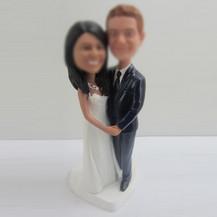 Personalized custom wedding cake bobble heads