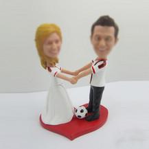 Personalized custom wedding cake bobble head