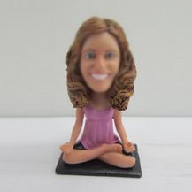 Customized Female Meditation bobbleheads