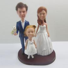 Customized family bobbleheads