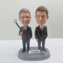 Personalized custom partner bobbleheads
