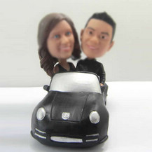 Personalized custom lovers in car bobbleheads