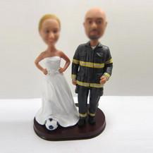 Personalized custom wedding cake bobblehead doll