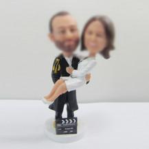 custom wedding cake bobble heads