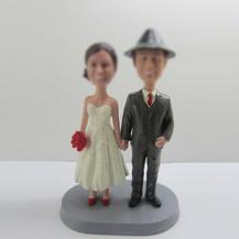 wedding cake bobbleheads custom