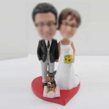 Personalized custom wedding cake bobble head doll