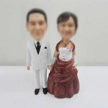 customized wedding cake bobbleheads
