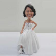 Football Bride bobbleheads custom