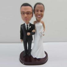 customized wedding cake bobble heads
