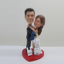 customized wedding cake bobble head