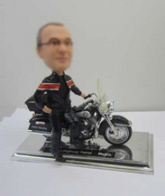 Personalized bobbleheads male with Motorcycle