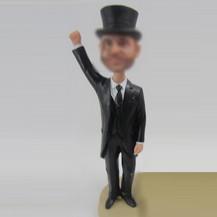 Gentleman bobble heads custom
