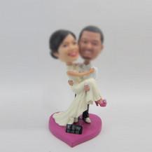 customized wedding cake bobblehead dolls