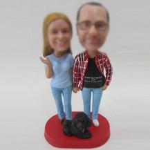 Customized couple bobble head