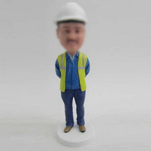 Customized Construction engineer bobbleheads