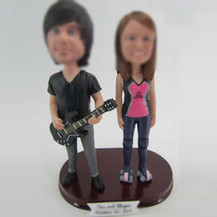 Personalized custom lovers bobble heads