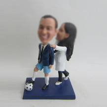 Personalized custom lovers bobbleheads