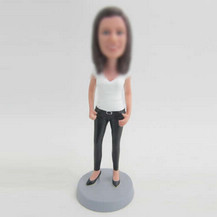 Bobbleheads custom Black high-heeled