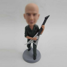Custom man with bass personalized bobbleheads