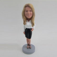 Customized female worker bobbleheads