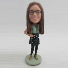 Personalized custom Wave point Skirt bobbleheads