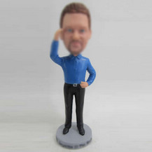 Custom man in office bobble heads