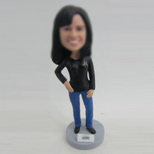 Customized female in office bobbleheads