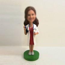 Customized femal doctor bobbleheads