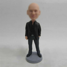 Bobbleheads custom black coat male