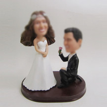 custom wedding cake bobblehead