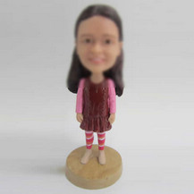 Customized cute girl bobbleheads
