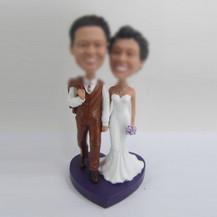 custom wedding cake bobblehead doll