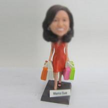 Personalized custom shopping bobbleheads