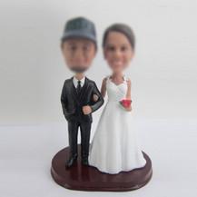 custom wedding cake bobblehead dolls