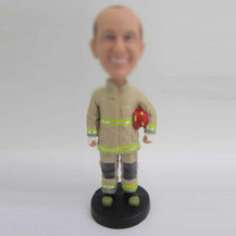 Customized Fireman bobble heads
