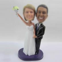 Personalized custom sweet wedding cake bobble heads