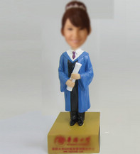 Customized female Graduation bobble heads