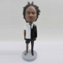 Customized casual man bobblehead doll