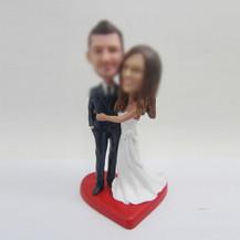 Personalized custom sweet wedding cake bobblehead doll