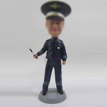Personalized custom police bobble heads