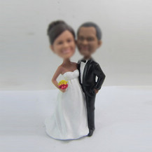 happiness wedding cake custom bobbleheads