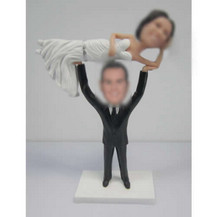 Specially wedding cake bobbleheads custom
