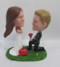 happiness wedding cake bobble heads