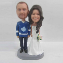 happiness wedding cake bobblehead doll