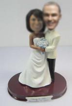 customized happiness wedding cake bobble heads