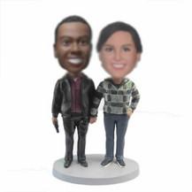 Customized couple bobblehead dolls