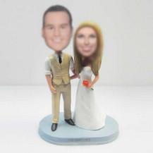 customized happiness wedding cake bobblehead