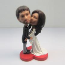 customized happiness wedding cake bobblehead doll