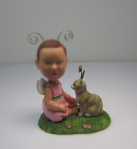 Customized cute baby bobble heads